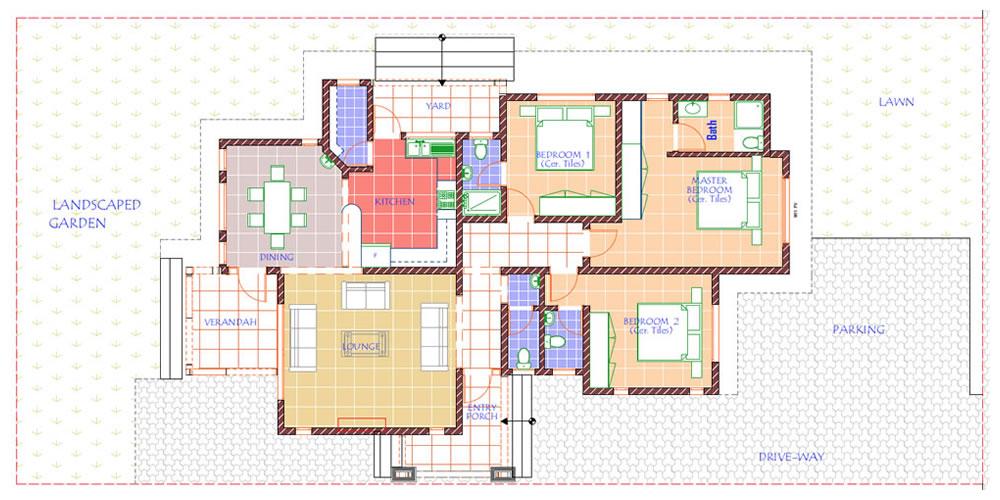 Three Bedroom Bungalow