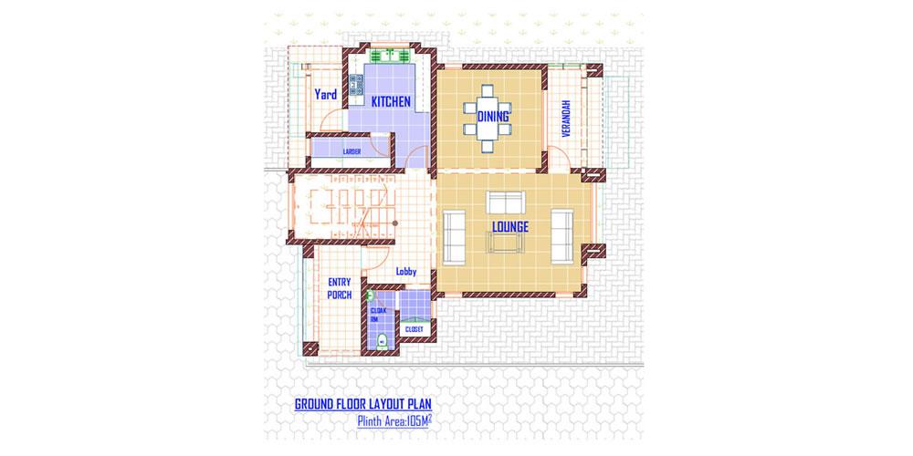 Three Bedroom Maisonette - Ground Floor Plan