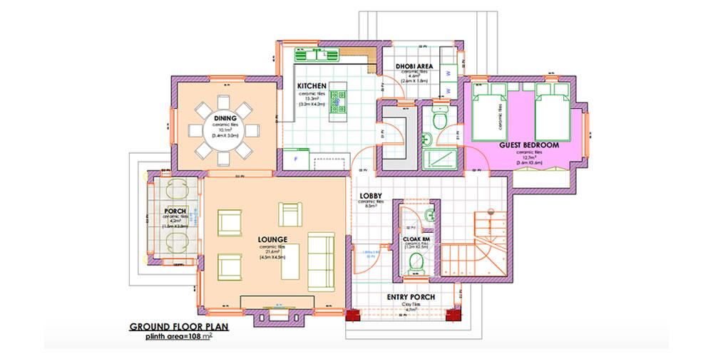Four Bedroom Maisonette floor plans